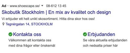 skobutik stockholm semexempel